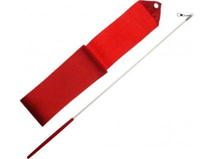 Gymnastická stuha + tyčka - červená Červená 3406CE