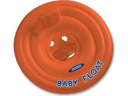 Kruh dětský dvojitý Intex 56588 MY BABY FLOAT oranžový  56588