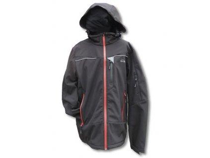 Mercox bunda pánská Softshellová Kaprun black/red
