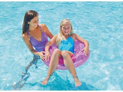 Kruh plavecký INTEX 59260 transparent Růžový