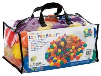 Míčky hrací Intex 49602 small fun 100 kusů 6,5 cm  49602