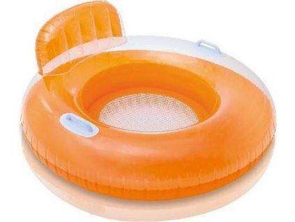 Sedátko nafukovací do vody Intex 56512 červené 102 cm oranžová 56512OR