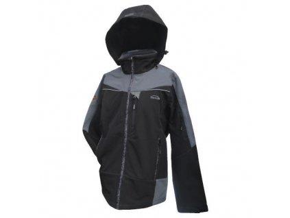 Mercox bunda pánská Softshellová Kaprun black/grey