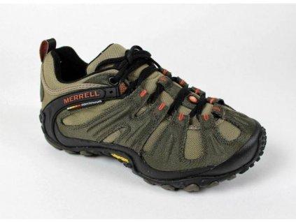Merrell Chameleon wrap slam J86971 boty ohyb boty ·TPU výztuha paty a kotníku ·Ochranný pryžový lem QS07179
