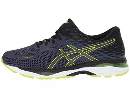 large asics gel cumulus 19 indigo blue safety yellow
