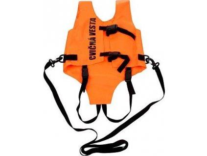 Cvičná vesta oranžová velikost oblečení 100