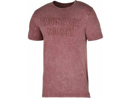 Pánské triko Bueno M tm. cihlová