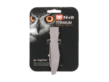turistický nůž 100% titan, skládací, odlehčený