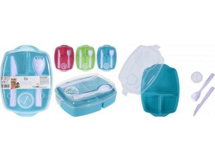 Dóza/Box na jídlo Excellent Houseware - Lunch/Oběd SET Modrá 997100170M