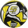 Fotbalový míč miniball SPORTTEAM, černo-neon.žlutý