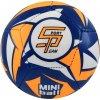 Fotbalový míč miniball SPORTTEAM, modro-neon.oranžový