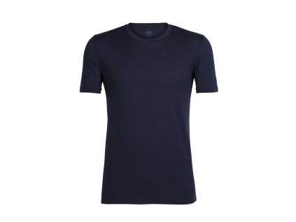 ICEBREAKER Mens Tech Lite SS Crewe, Midnight Navy (velikost XXL)