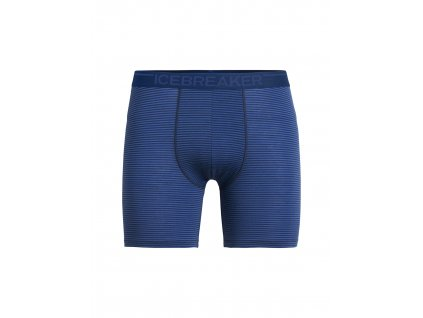 ICEBREAKER Mens Anatomica Long Boxers, ESTATE BLUE (velikost XXL)