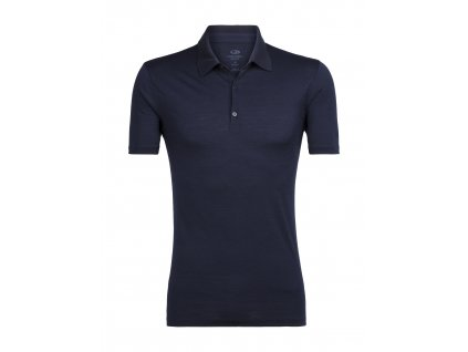 ICEBREAKER Mens Tech Lite SS Polo, Midnight Navy (velikost XXL)