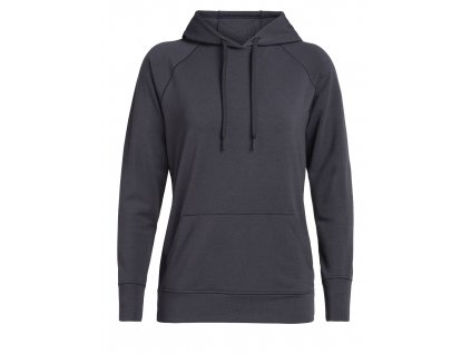 ICEBREAKER Wmns MoMentum Hooded Pullover, Panther (velikost XS)