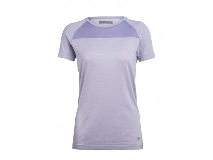ICEBREAKER Wmns Motion Seamless SS Crewe, ORCHID HTHR (velikost XS)