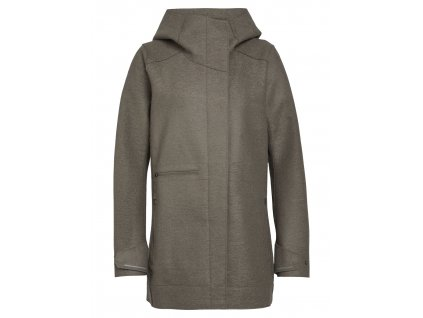 ICEBREAKER Wmns Ainsworth Hooded Jacket, DRIFTWOOD (velikost XS)