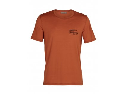 ICEBREAKER Mens Tech Lite SS Crewe The Good Life, Roote (velikost XXL)