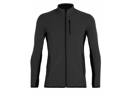 ICEBREAKER Mens Descender LS Zip, Monsoon (velikost XXL)