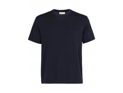 ICEBREAKER Mens 150 SS Pocket Crewe, Midnight Navy (velikost XXL)