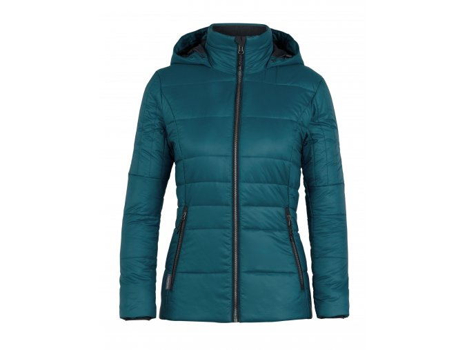 ICEBREAKER Wmns Stratus X Hooded Jacket, Kingfisher/Jet HTHR  103908