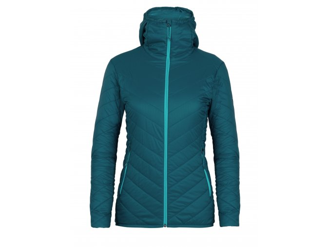 ICEBREAKER Wmns Hyperia Hooded Jacket, Kingfisher/ARCTIC TEAL  103931