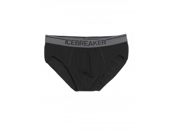 ICEBREAKER Mens Anatomica Briefs, Black/Monsoon  103032