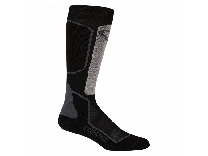 ICEBREAKER Mens Ski+ Medium OTC, Black/Oil/Silver