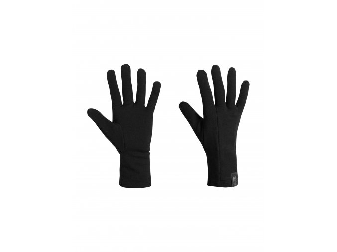ICEBREAKER Adult Apex Glove Liners, Black  IBMD29