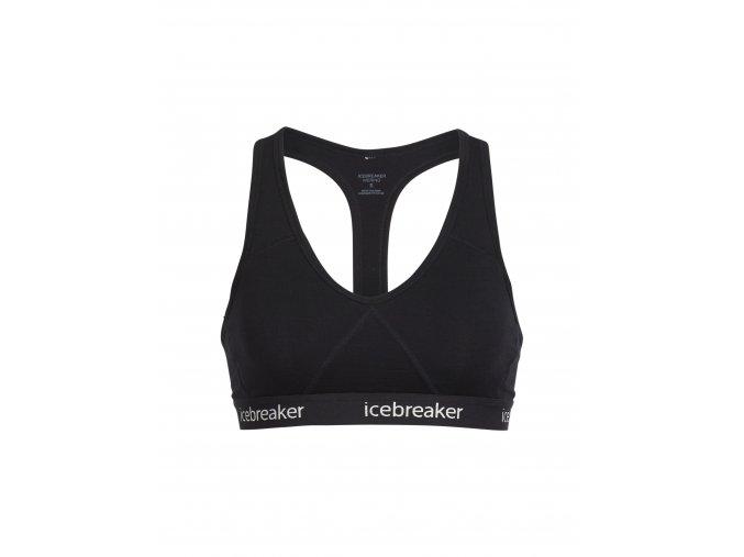 ICEBREAKER Wmns Sprite Racerback Bra, Black/Black  103020