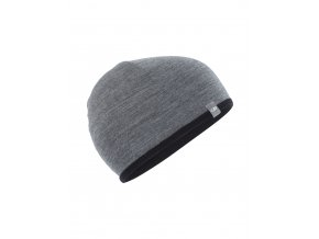 ICEBREAKER Adult Pocket Hat, Black/Gritstone HTHR  IBM200