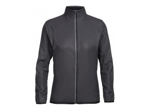 ICEBREAKER Wmns Rush Windbreaker, Black/Embossed  103640