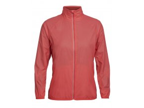 ICEBREAKER Wmns Rush Windbreaker, POPPY RED/Embossed