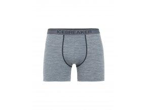 ICEBREAKER Mens Anatomica Boxers, Gritstone HTHR/Black/Stripe  103029