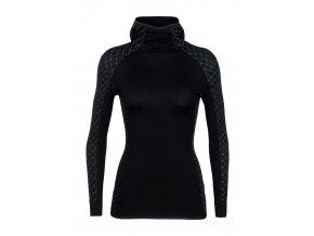 ICEBREAKER Wmns Affinity Thermo Hooded Pullover, Black  103892