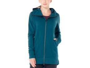 ICEBREAKER Wmns Dia Long Hooded Jacket, Kingfisher  103897