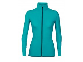 ICEBREAKER Wmns Descender LS Zip, ARCTIC TEAL/Kingfisher  103900