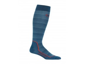 ICEBREAKER Mens Ski+ Ultra Light OTC Horizons, PRUSSIAN BLUE/GRANITE BLUE/HORIZONS  103943