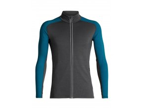 ICEBREAKER Mens Quantum LS Zip, Monsoon/Alpine  104055