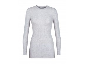 ICEBREAKER Wmns Valley Slim Crewe Sweater, STEEL HTHR  104314