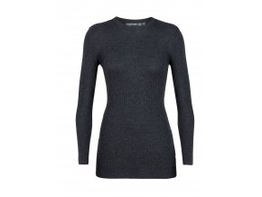ICEBREAKER Wmns Valley Slim Crewe Sweater, CHAR HTHR  104314