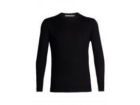 ICEBREAKER Mens Shearer Crewe Sweater, Black  104326