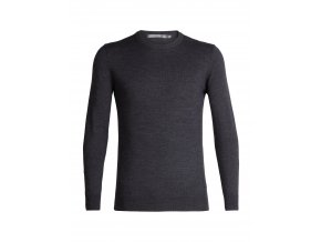 ICEBREAKER Mens Shearer Crewe Sweater, CHAR HTHR  104326