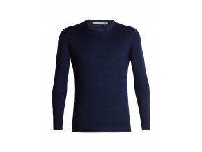 ICEBREAKER Mens Shearer Crewe Sweater, Midnight Navy  104326
