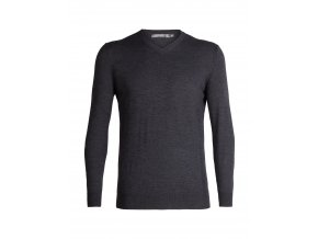 ICEBREAKER Mens Shearer V Sweater, CHAR HTHR  104327