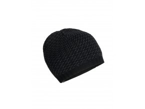 ICEBREAKER Adult Snow Mix Beanie, Black/Monsoon  104401