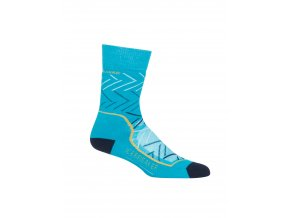 ICEBREAKER Wmns Hike + Medium Crew Sunrise, ARCTIC TEAL/Midnight Navy/GINGER  104437