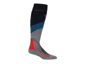 ICEBREAKER Mens Ski + Medium OTC Glades, Twister HTHR/Fathom HTHR/CHILI RED  104438