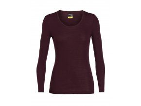 ICEBREAKER Wmns 175 Everyday LS Scoop, VELVET  104472