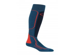 ICEBREAKER Mens Ski+ Medium OTC, PRUSSIAN BLUE/Midnight Navy/CHILI RED  IBN720